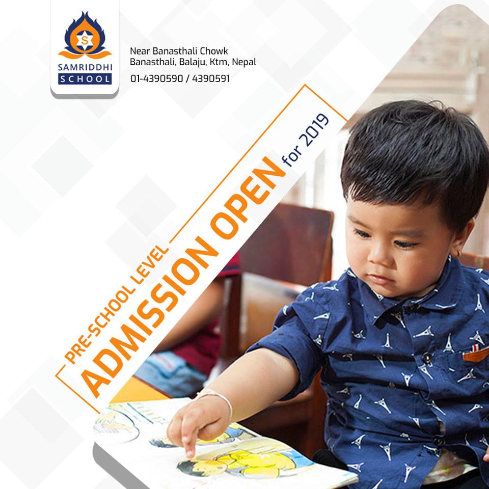 Admission Open for Pre School - Samriddhi School